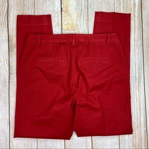 WHBM Red The Slim Leg Pants
